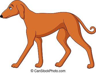alto, caricatura, perro