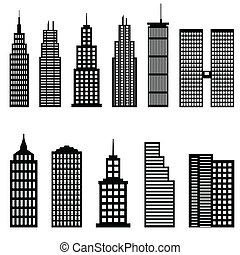 alto, edificios, rascacielos