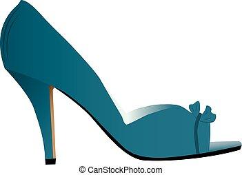 alto, mujer, talonado, zapato