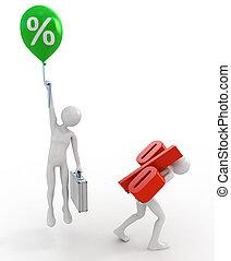 alto, tasa, préstamos, interés bajo