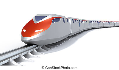 alto, tren, concepto, velocidad