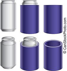 Aluminio puede y koozie