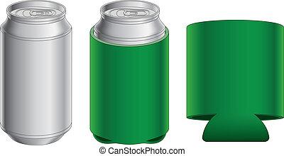 Aluminio puede y koozie plegable