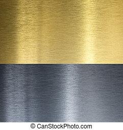Aluminio y latón cosieron texturas