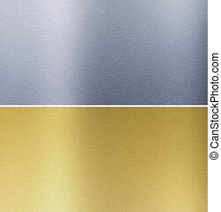 Aluminio y texturas de bronce