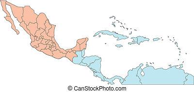 América Central con países editables