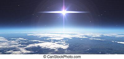 Amanecer desde el espacio
