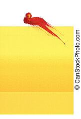 Amarillo con Splat rojo