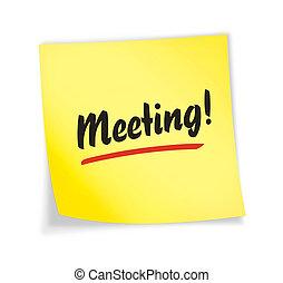 """amarillo, """"meeting"""", nota, pegajoso"""