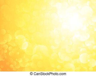 Amarillo sol bokeh brillante fondo