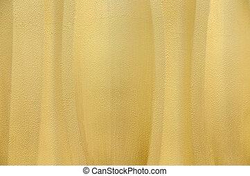 Amarillo texturizado fondo de pared onda