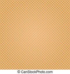 amarillo, vector, patrón, seamless, ilustración, barquillo