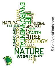 ambiental, ecología, -, cartel