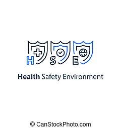ambiente, administración, seguridad, ocupacional, salud, hse, concepto