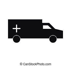 ambulancia, icono