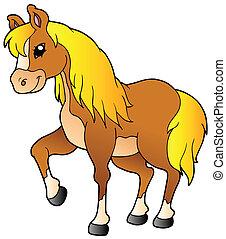 ambulante, caballo, caricatura