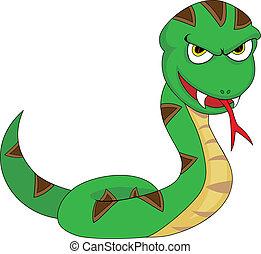 amenazador, lindo, mirar, serpiente