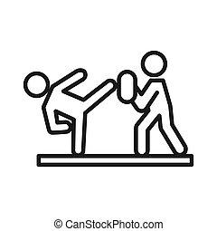 Amigos entrenando diseño de ilustraciones