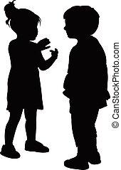 Amigos hablando entre sí