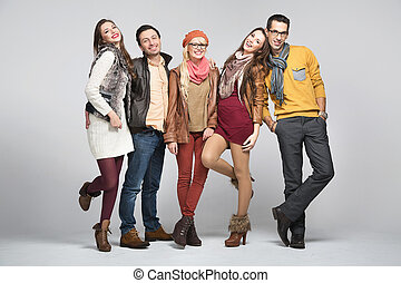 amigos, moda, imagen, estilo