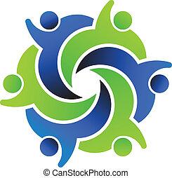 Amigos sociales, diseño de logotipo