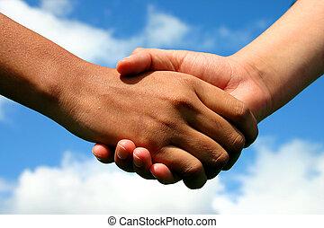 amistad, manos