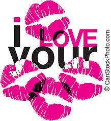 amor, besos, su