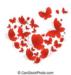 Amor, corazón mariposa