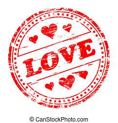 amor, estampilla