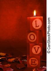 amor, lit, santuario, vertical