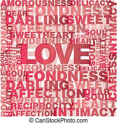 amor, palabras, valentine