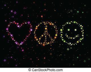 Amor paz y felicidad
