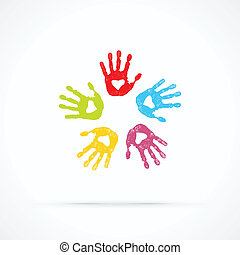 amoroso, unido, manos