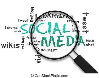 Ampliar el cristal - medios sociales
