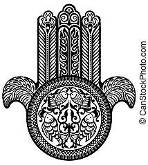 amuleto judío. Hamsa