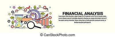 Análisis financiero concepto horizontal de la telaraña horizontal con espacio de copia
