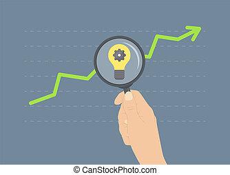 Analizando el concepto de crecimiento plano ilustrativo