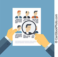 Analizando solicitudes reanuden el concepto de ilustración