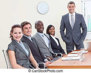 analizar, businessteam, ganancias, reunión, impuestos