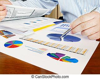 analizar, inversión, charts.