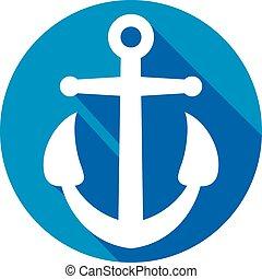 Anchor flat icono