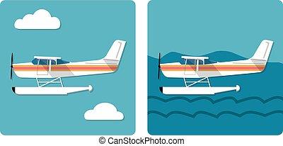 anfibio, avión pequeño