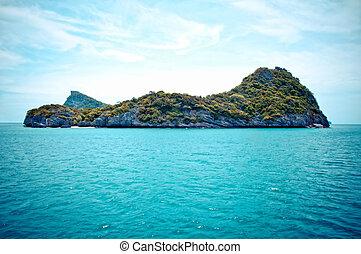 ang-thong, rocoso, parque de la isla, tailandia, marina