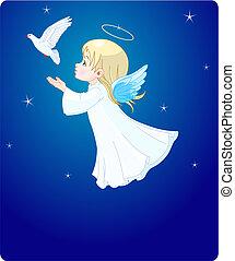 Angel con paloma