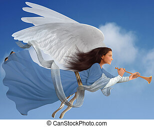 Angel en blanco