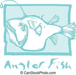 Anglerfish en azul