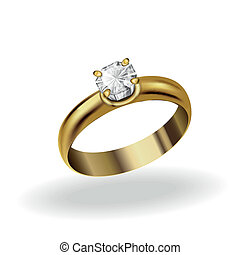 anillo, oro