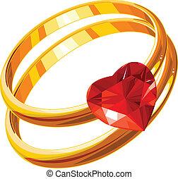 anillos, amor