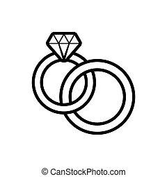 anillos, boda