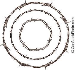 Anillos de alambre de púas